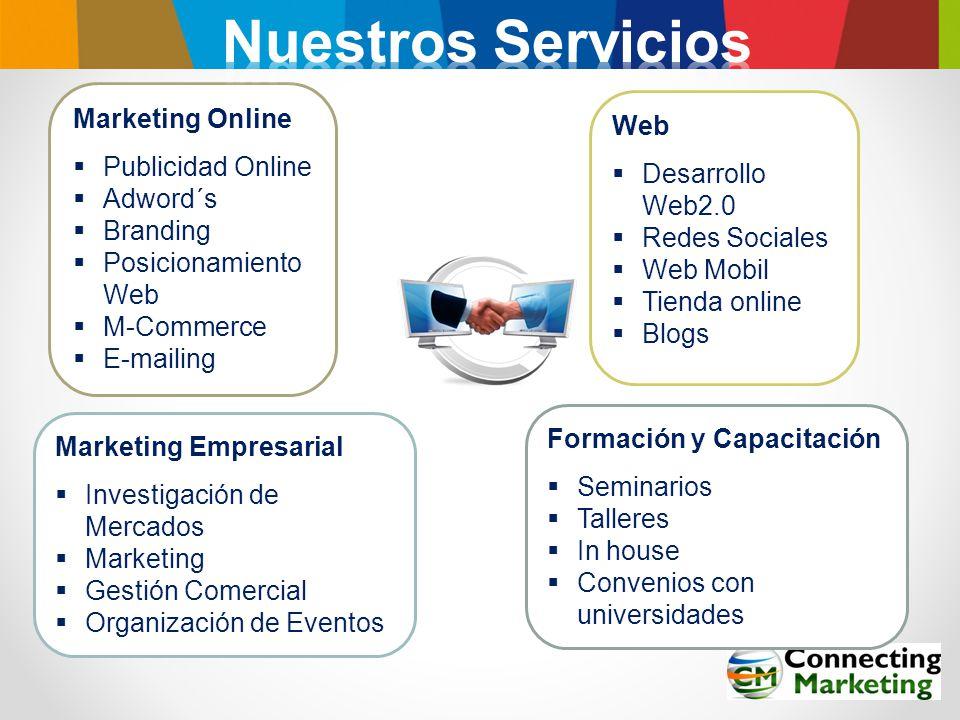 Nuestros Servicios Marketing Online Web Publicidad Online