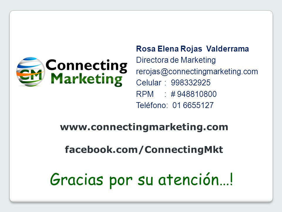 facebook.com/ConnectingMkt