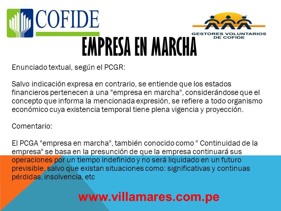 EMPRESA EN MARCHA www.villamares.com.pe