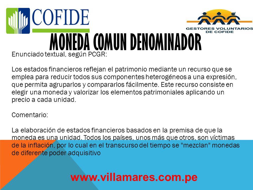 MONEDA COMUN DENOMINADOR