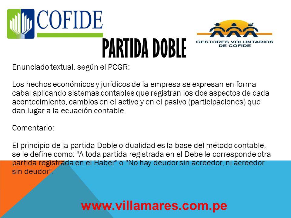 PARTIDA DOBLE www.villamares.com.pe