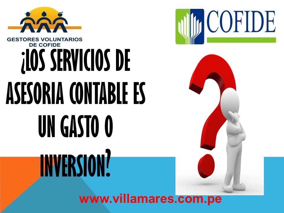 ¿LOS SERVICIOS DE ASESORIA CONTABLE ES UN GASTO O INVERSION