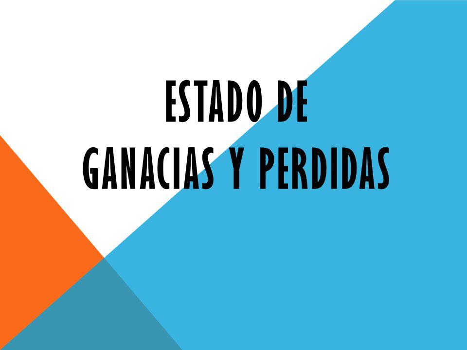 ESTADO DE GANACIAS Y PERDIDAS