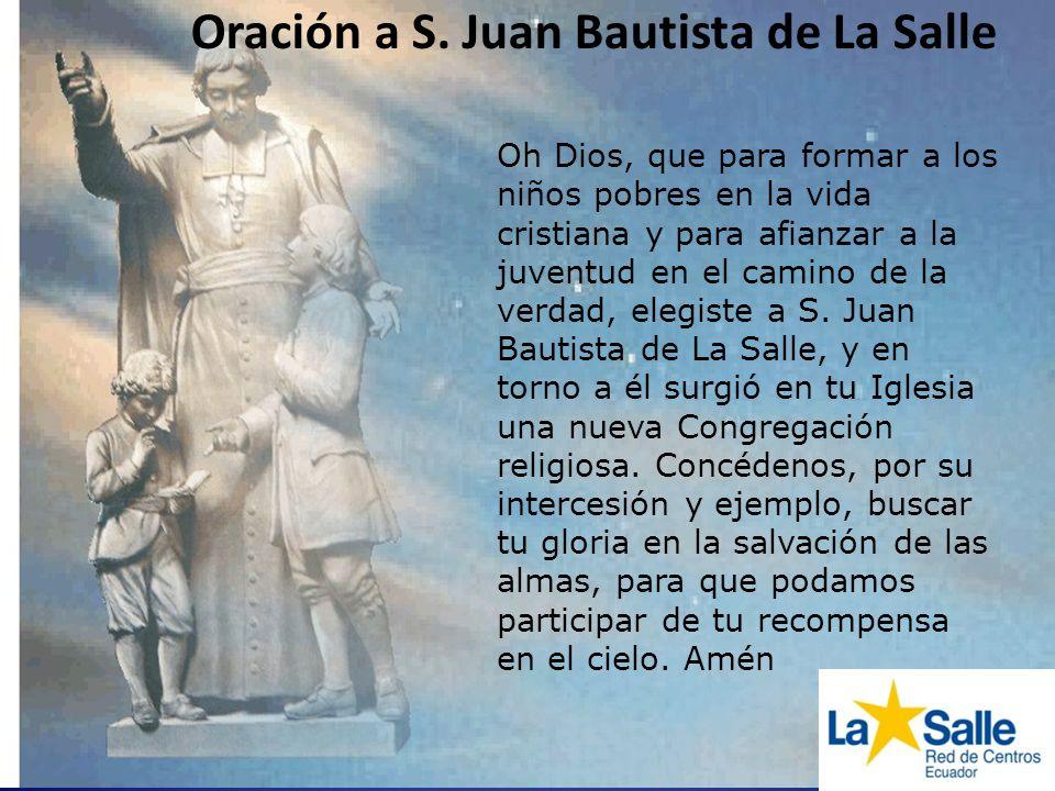 Oración a S. Juan Bautista de La Salle