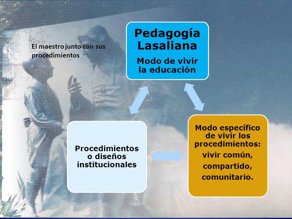 Pedagogía Lasaliana Modo de vivir la educación