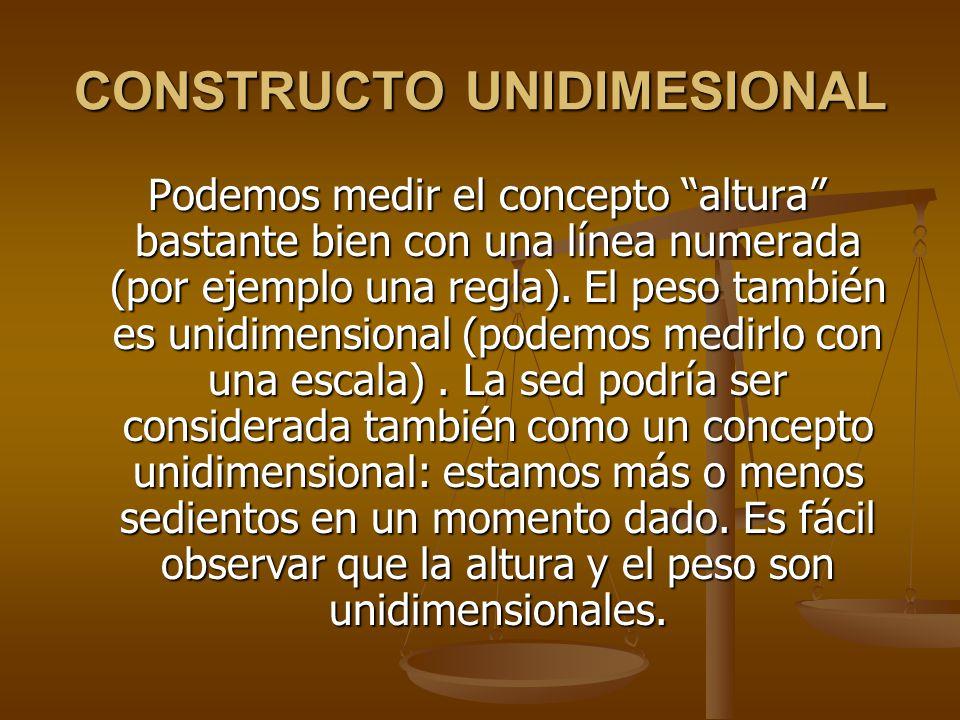CONSTRUCTO UNIDIMESIONAL