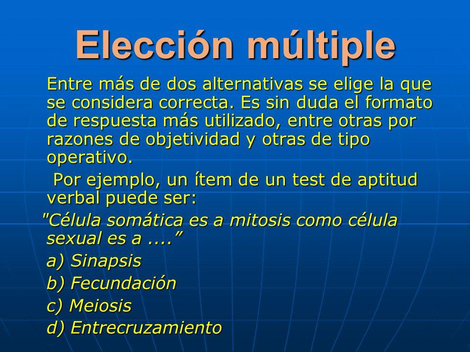 Elección múltiple