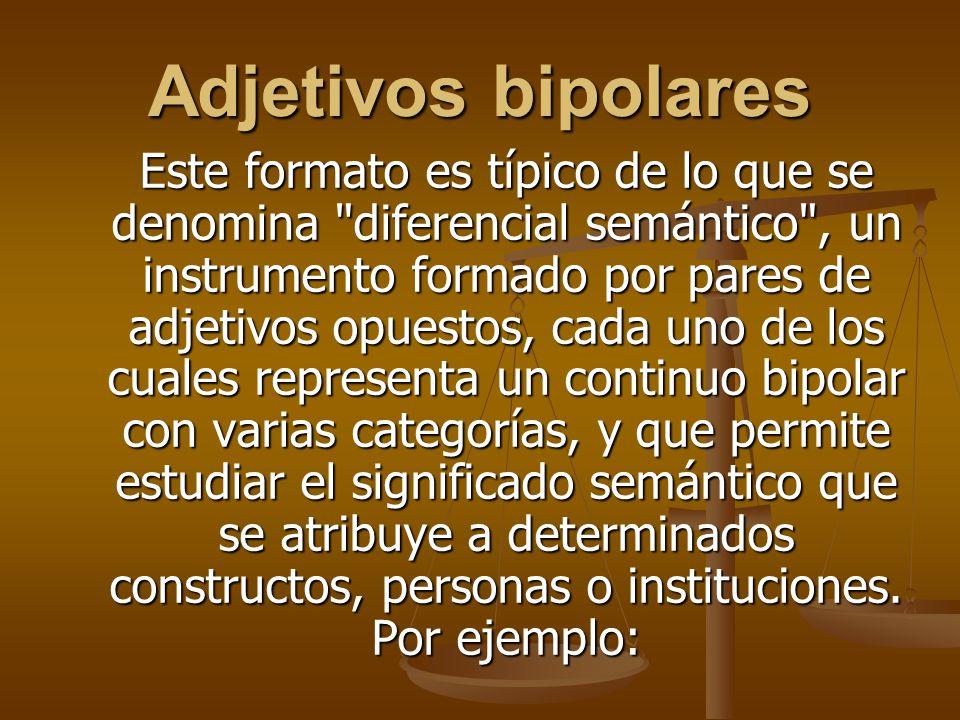 Adjetivos bipolares