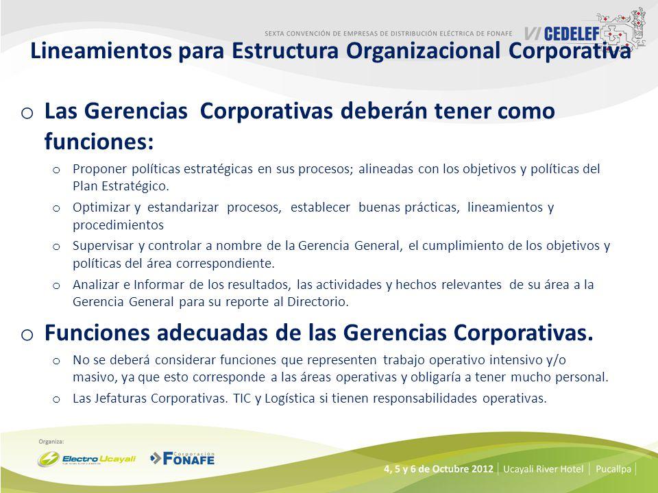 Lineamientos para Estructura Organizacional Corporativa