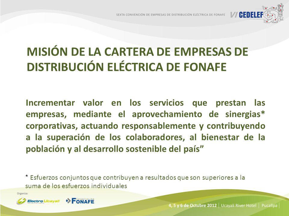 Misión de la Cartera de Empresas de Distribución Eléctrica de FONAFE