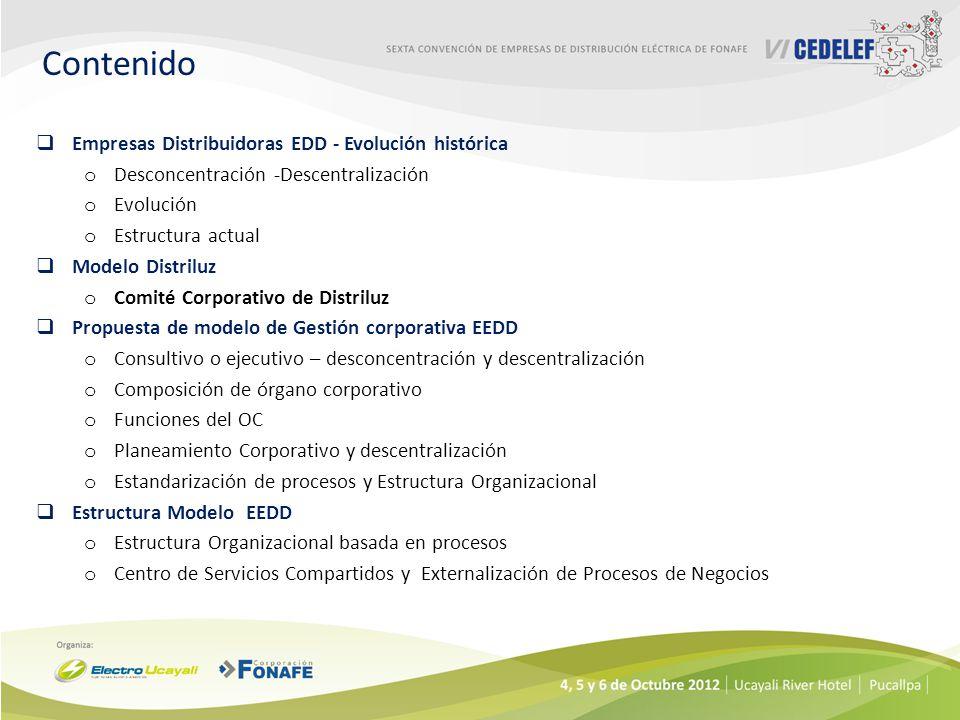 Contenido Empresas Distribuidoras EDD - Evolución histórica