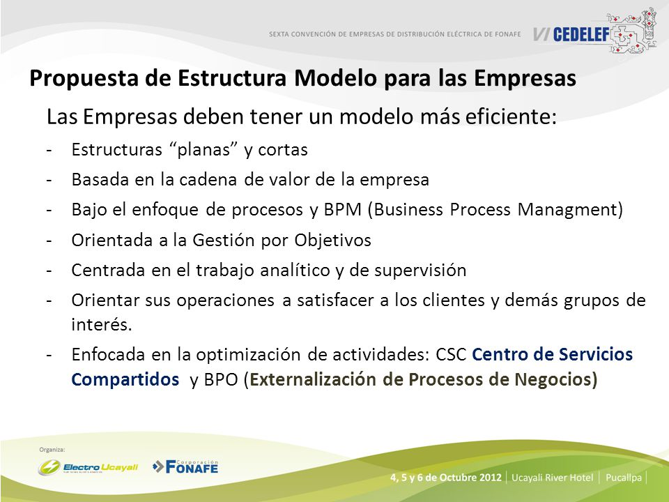 Propuesta de Estructura Modelo para las Empresas