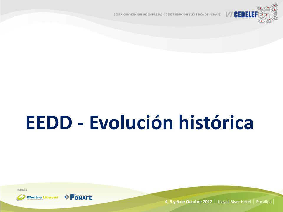 EEDD - Evolución histórica
