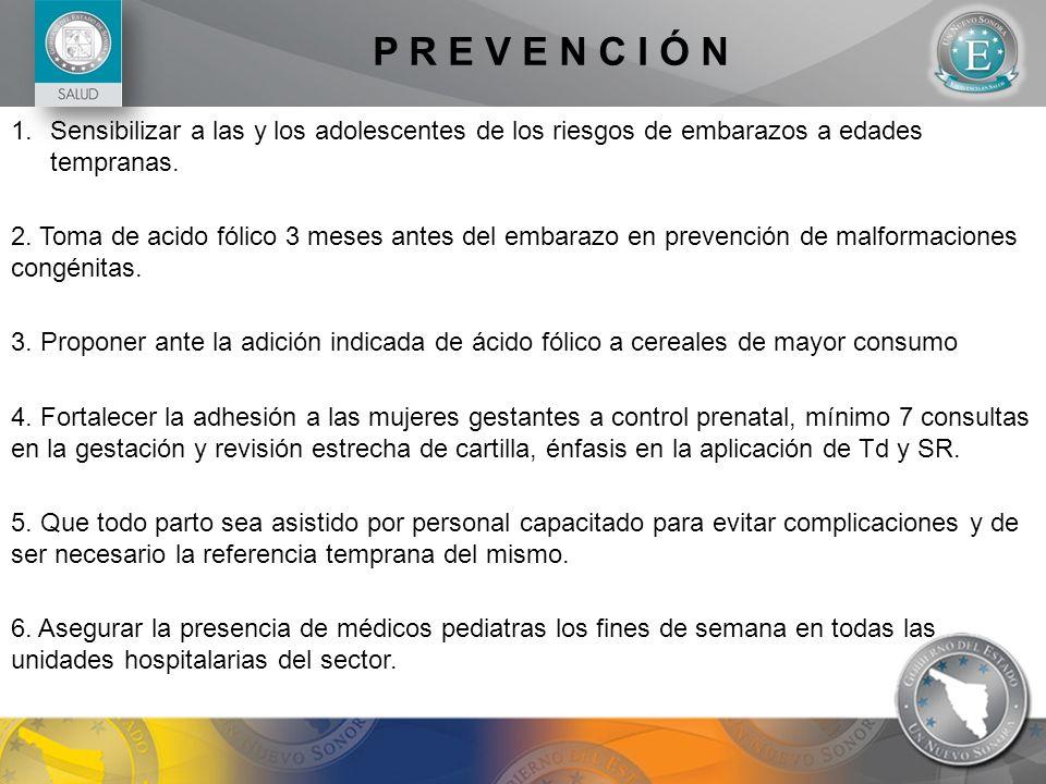 P R E V E N C I Ó NSensibilizar a las y los adolescentes de los riesgos de embarazos a edades tempranas.