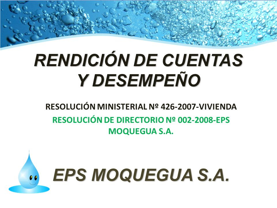 RENDICIÓN DE CUENTAS Y DESEMPEÑO