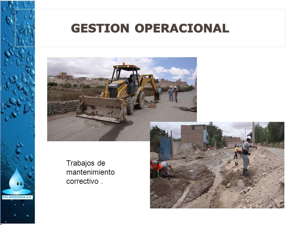 GESTION OPERACIONAL Trabajos de mantenimiento correctivo .