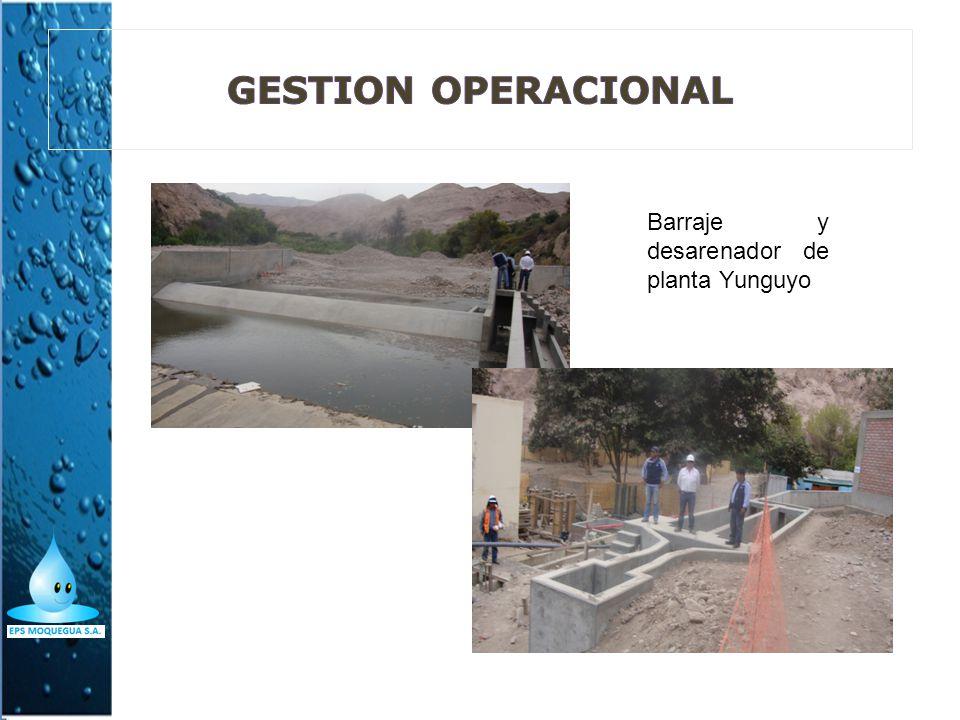 GESTION OPERACIONAL Barraje y desarenador de planta Yunguyo