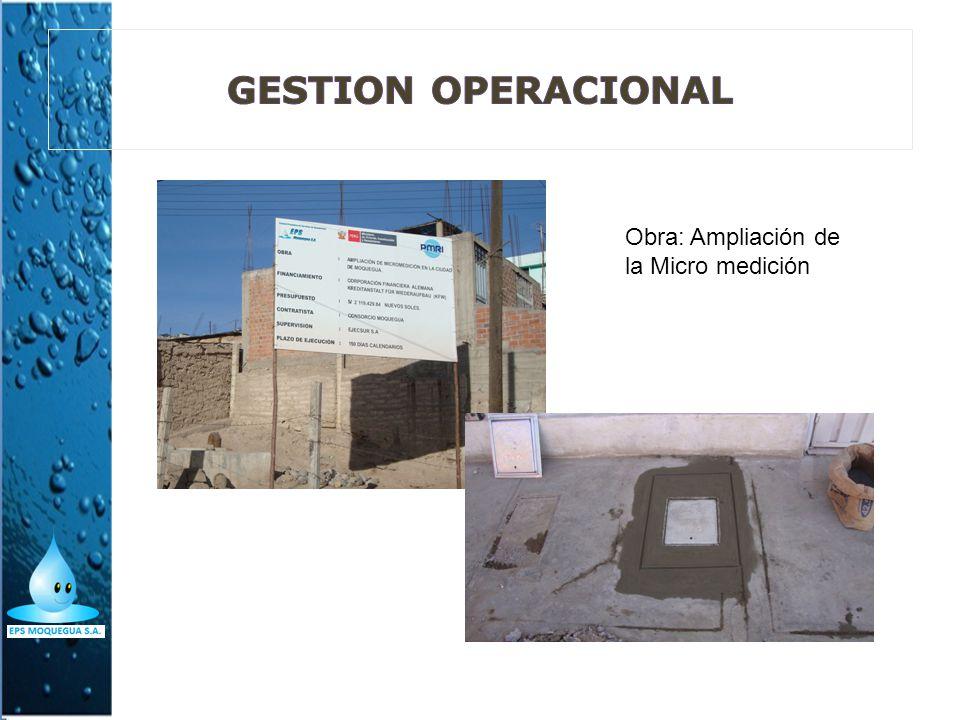 GESTION OPERACIONAL Obra: Ampliación de la Micro medición