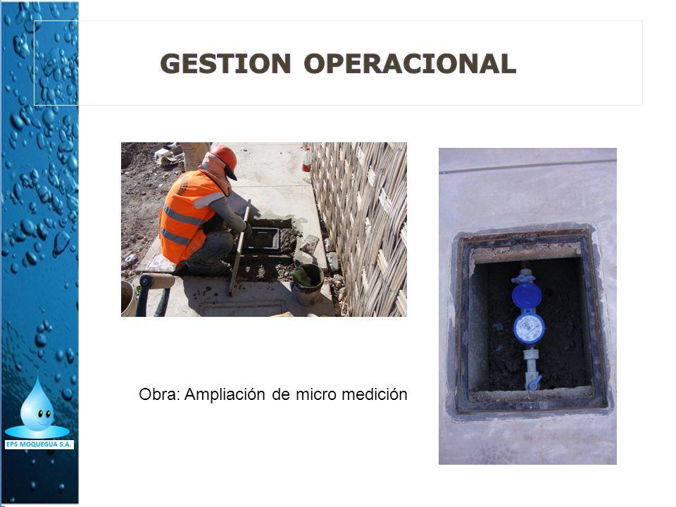 GESTION OPERACIONAL Obra: Ampliación de micro medición