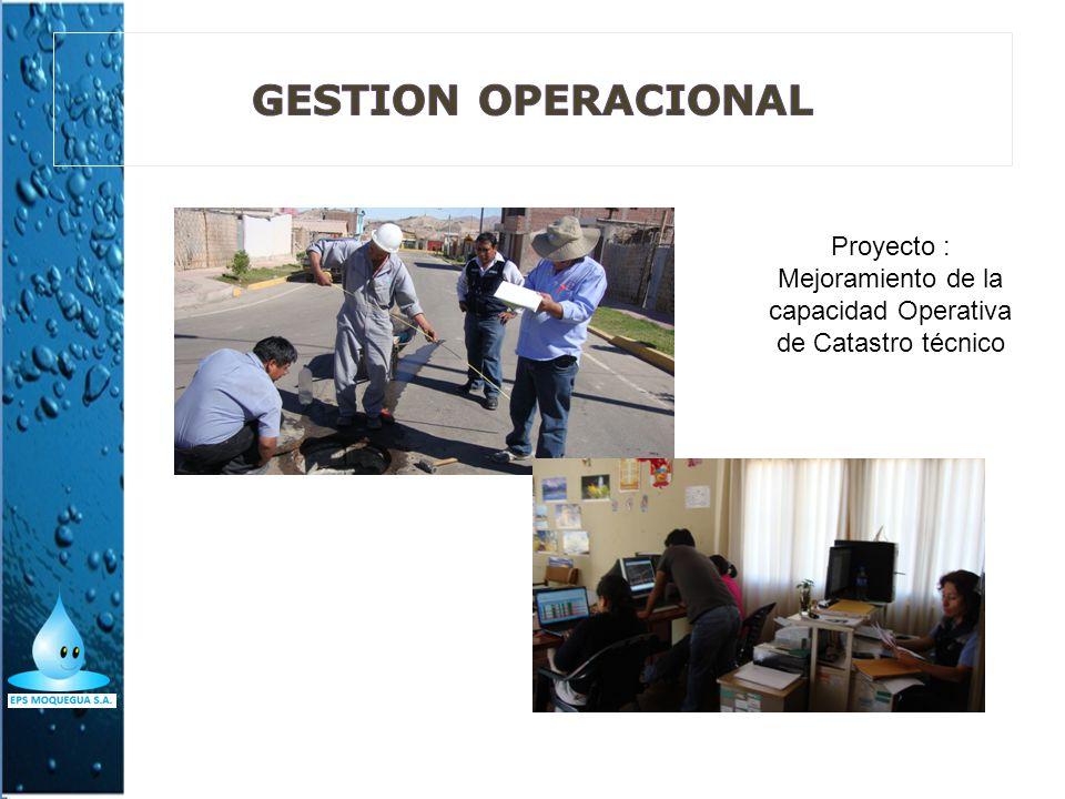 Proyecto : Mejoramiento de la capacidad Operativa de Catastro técnico