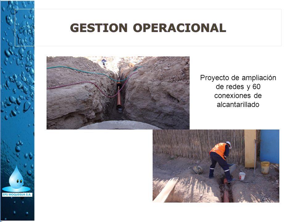 Proyecto de ampliación de redes y 60 conexiones de alcantarillado