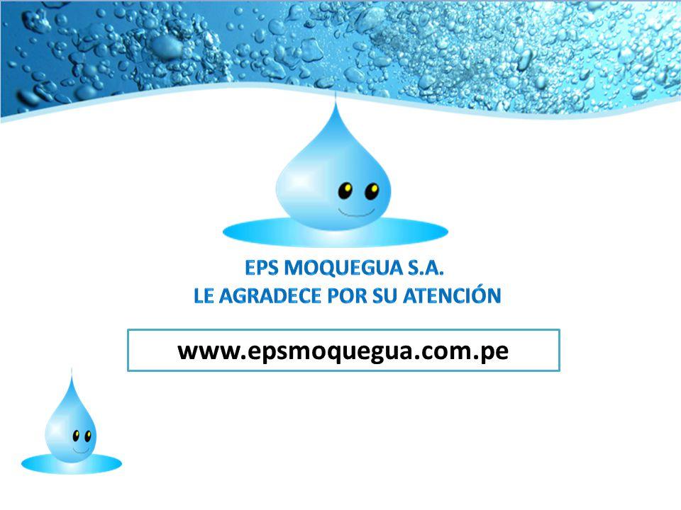 EPS MOQUEGUA S.A. LE AGRADECE POR SU ATENCIÓN
