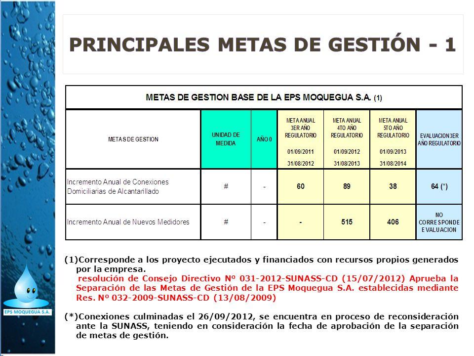 PRINCIPALES METAS DE GESTIÓN - 1