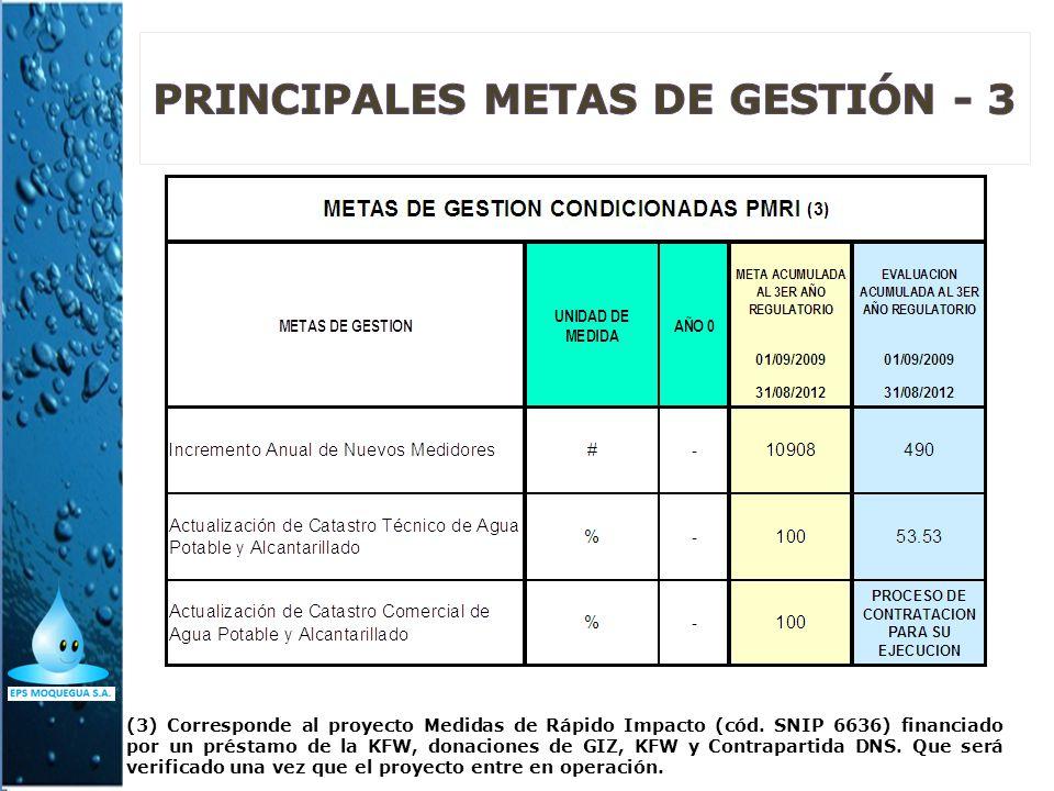 PRINCIPALES METAS DE GESTIÓN - 3