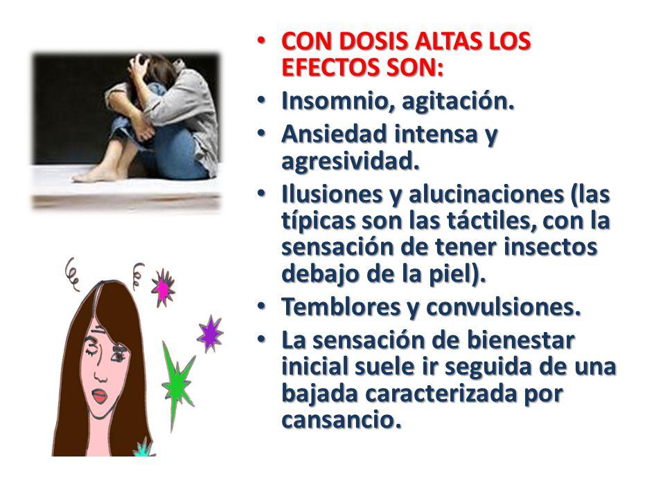CON DOSIS ALTAS LOS EFECTOS SON: