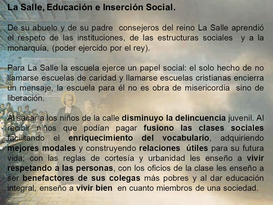 La Salle, Educación e Inserción Social.