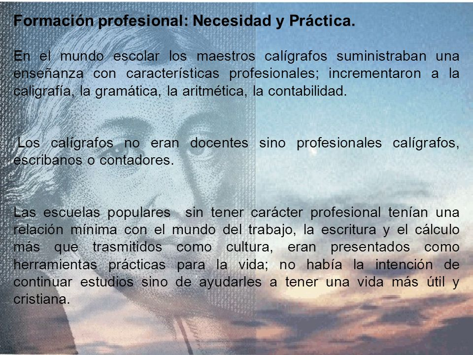 Formación profesional: Necesidad y Práctica.