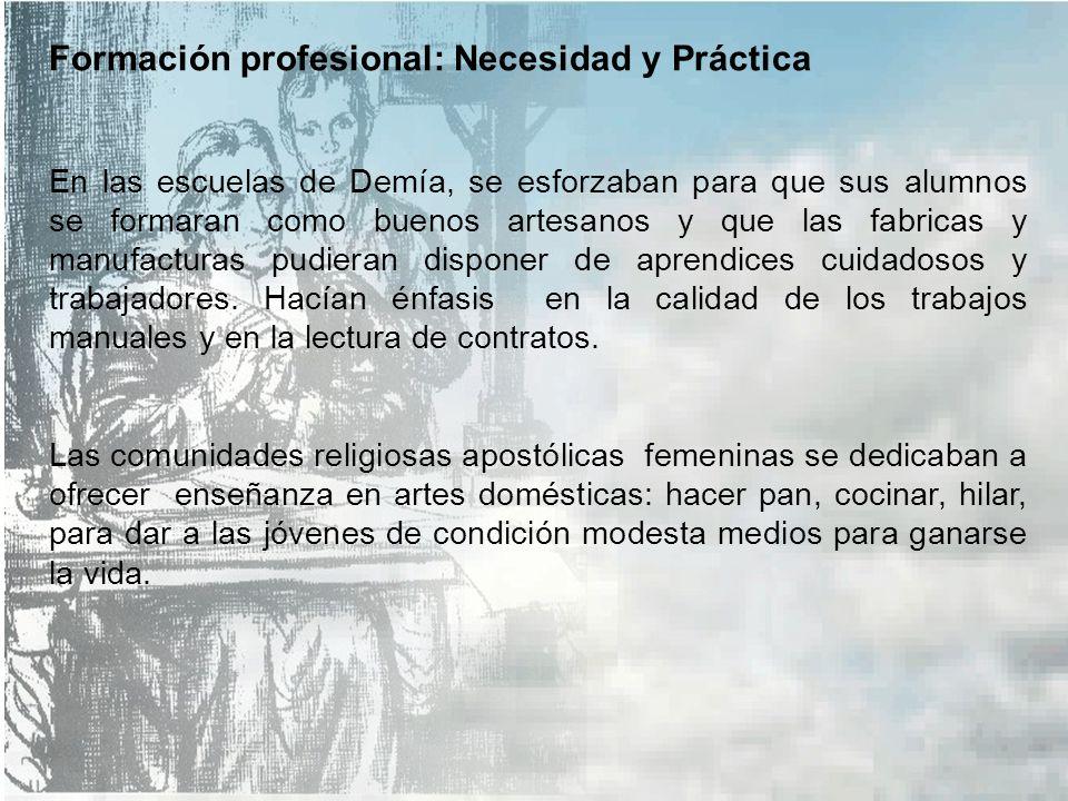 Formación profesional: Necesidad y Práctica