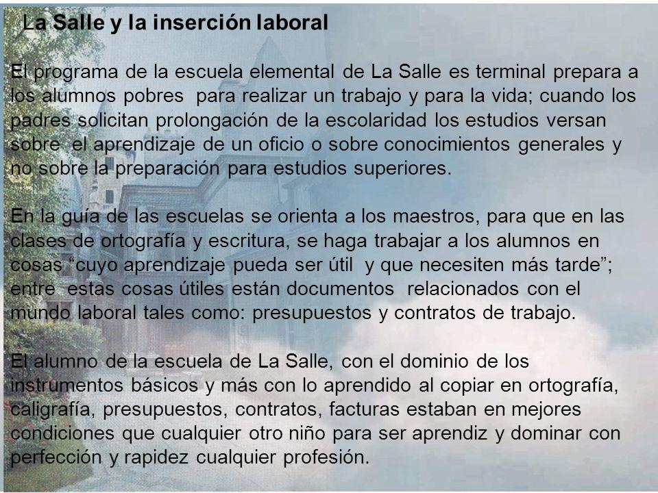La Salle y la inserción laboral