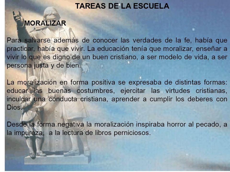 TAREAS DE LA ESCUELA MORALIZAR.