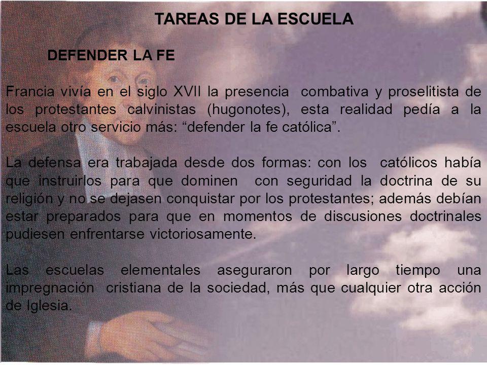 TAREAS DE LA ESCUELA DEFENDER LA FE.