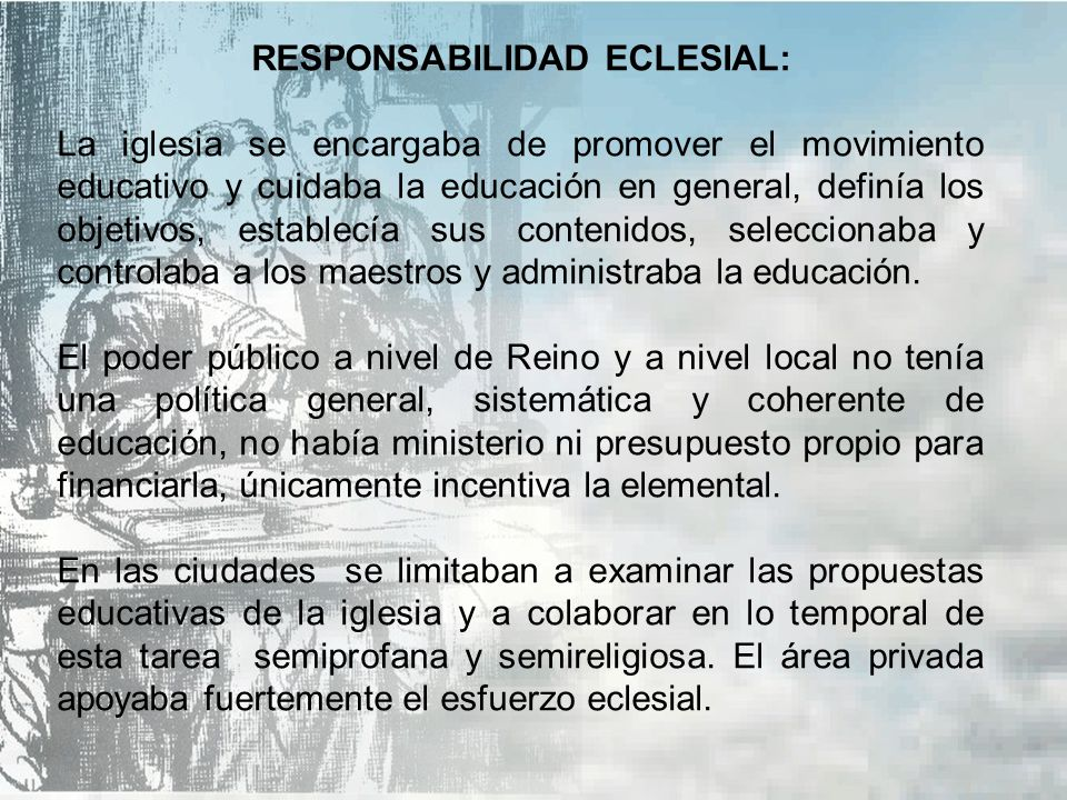 RESPONSABILIDAD ECLESIAL: