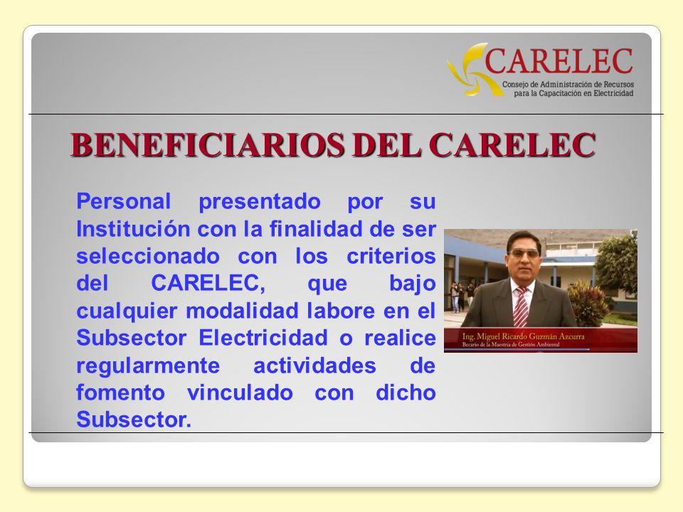 BENEFICIARIOS DEL CARELEC