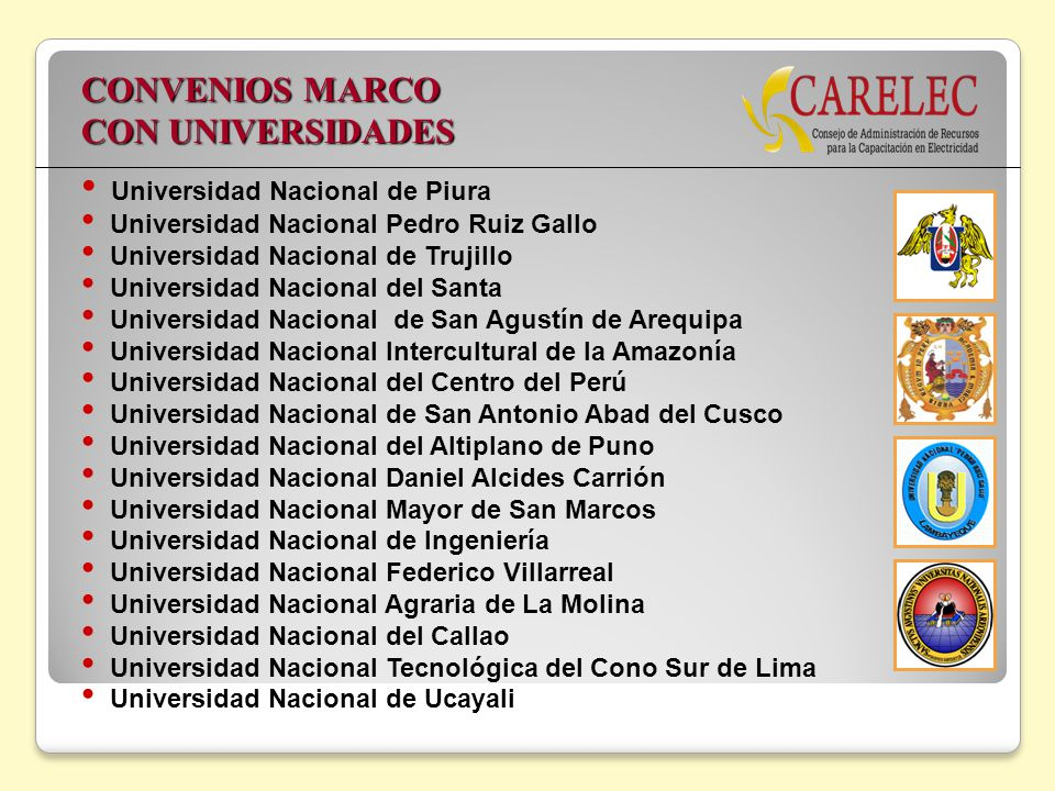 CONVENIOS MARCO CON UNIVERSIDADES