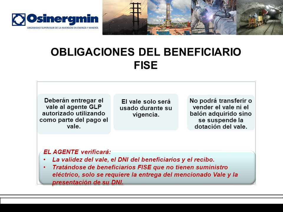 OBLIGACIONES DEL BENEFICIARIO FISE