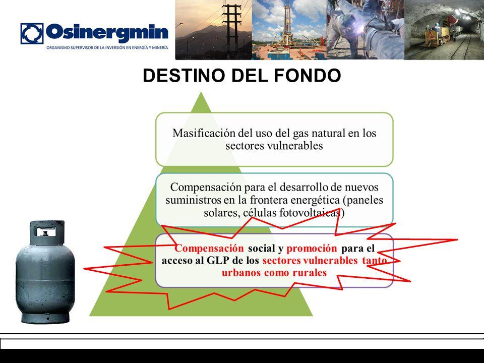 DESTINO DEL FONDO