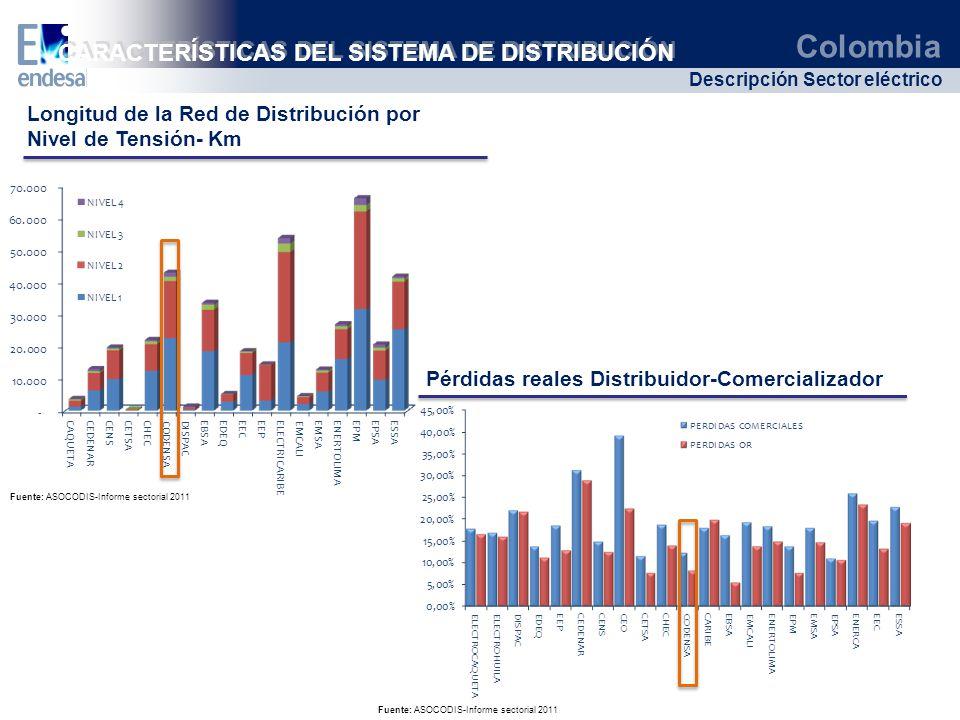 CARACTERÍSTICAS DEL SISTEMA DE DISTRIBUCIÓN