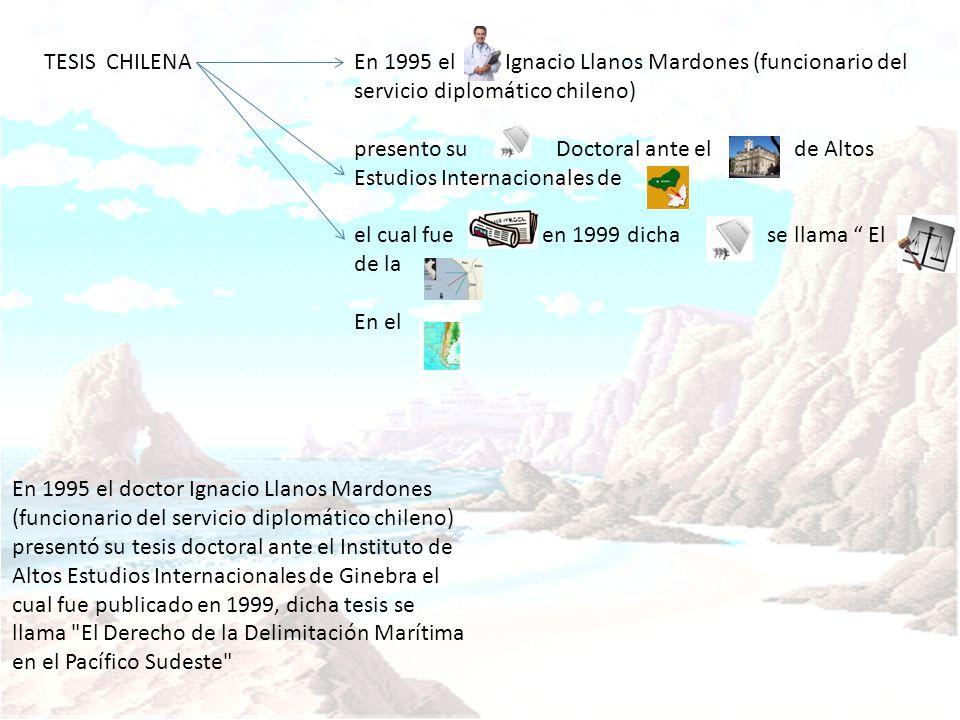 TESIS CHILENA En 1995 el Ignacio Llanos Mardones (funcionario del servicio diplomático chileno)