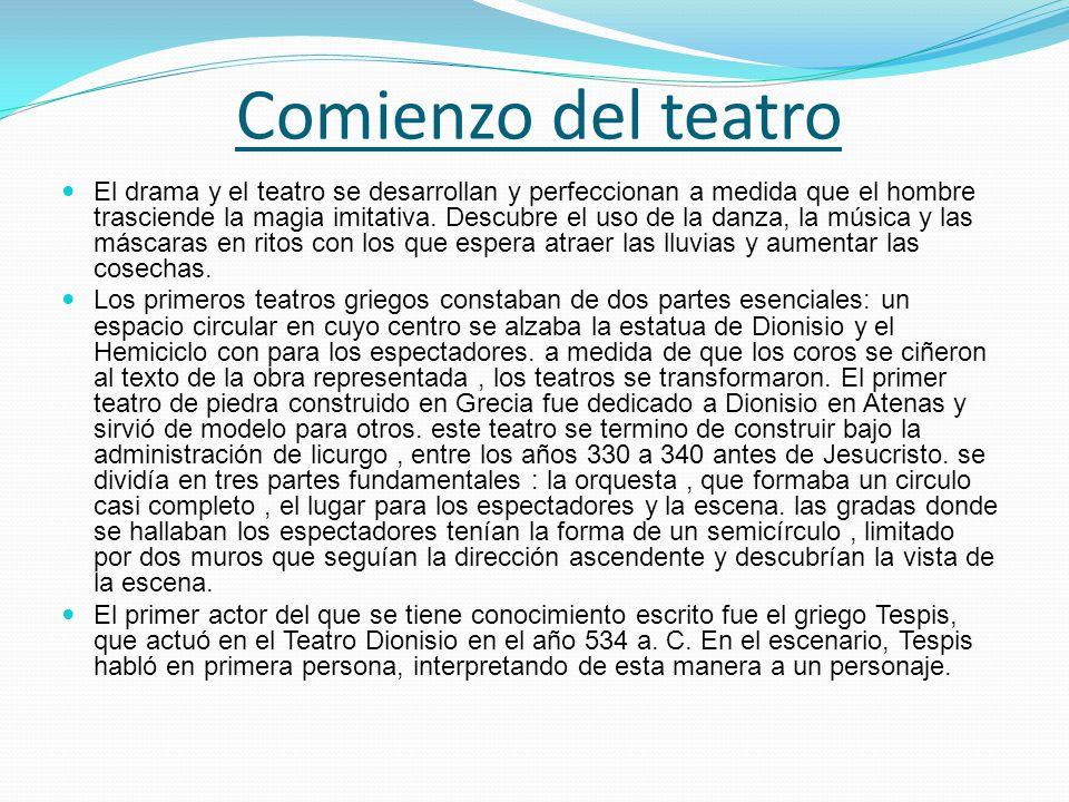 Comienzo del teatro