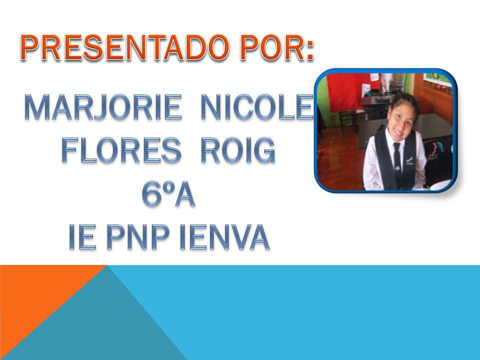 PRESENTADO POR: MARJORIE NICOLE FLORES ROIG 6ºA IE PNP IENVA