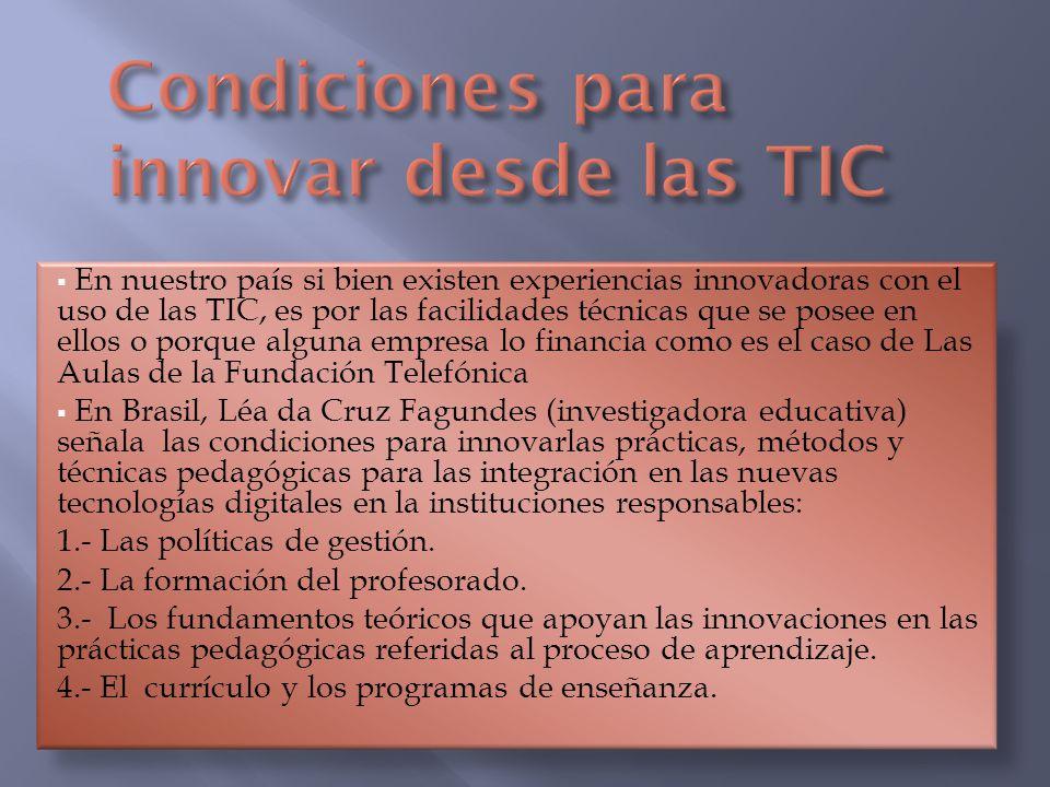 Condiciones para innovar desde las TIC