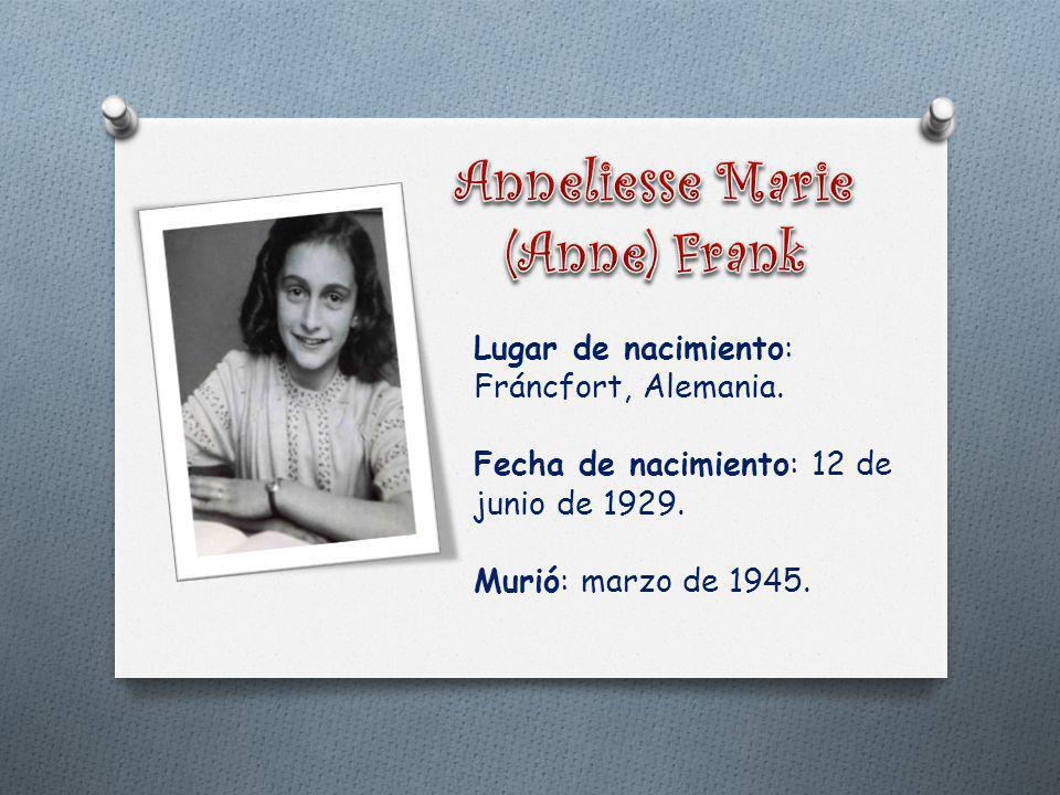 Anneliesse Marie (Anne) Frank