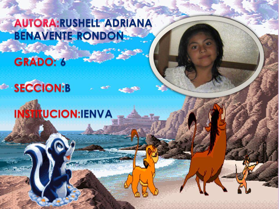 AUTORA:RUSHELL ADRIANA