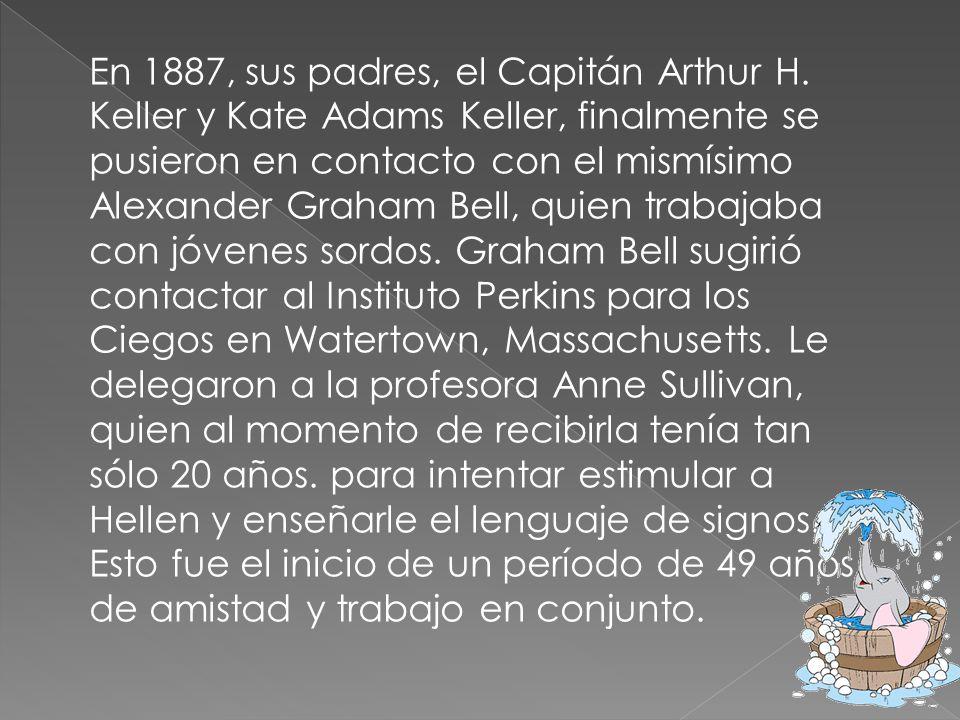 En 1887, sus padres, el Capitán Arthur H