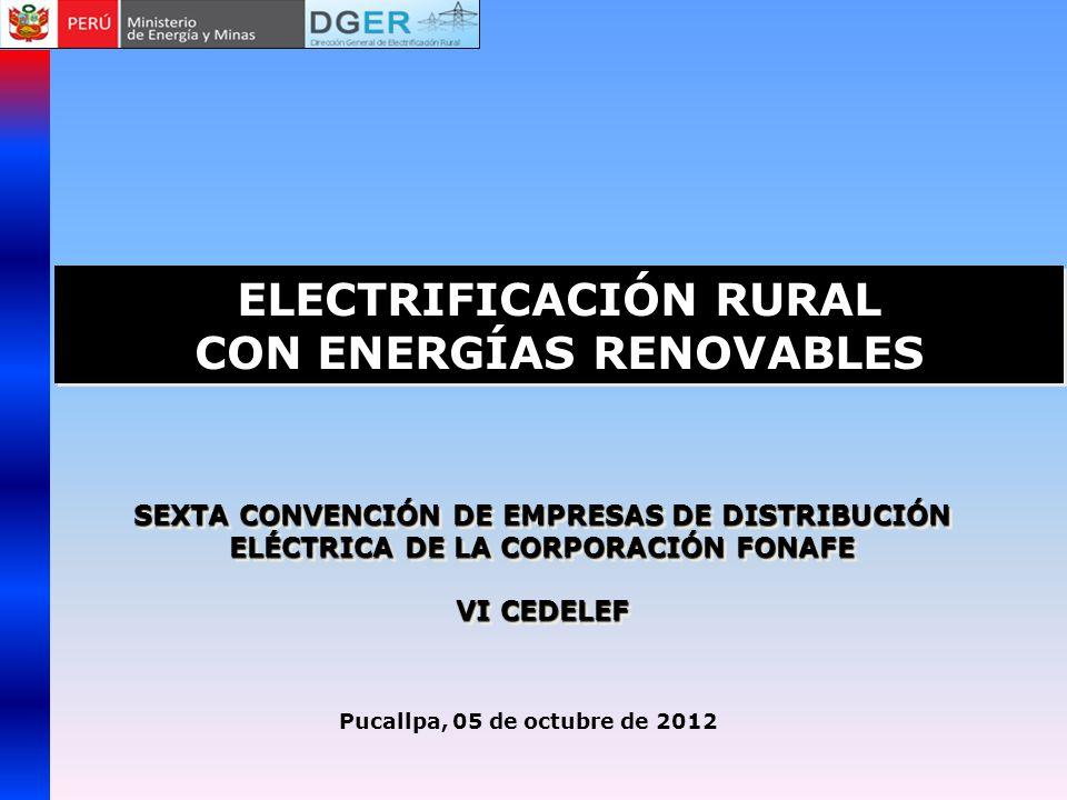 ELECTRIFICACIÓN RURAL CON ENERGÍAS RENOVABLES