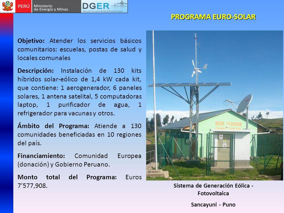 Sistema de Generación Eólica - Fotovoltaica